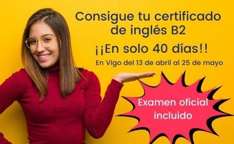 Curso Presencial B2 en 40 días en Vigo
